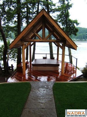 Gazebos shelters hot tub shelter nadra gallery of deck for Hot tub shelter