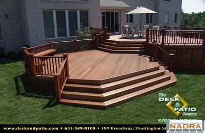 Wood Two Level Mahogany Deck Nadra Gallery Of Deck