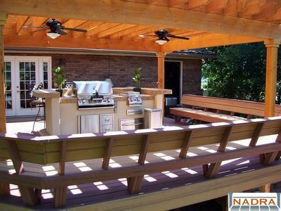 Trex Deck With Benches And Pergola Cfc Fences Decks Provo Ut